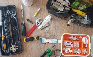 ileri dönüşüm upcycling yaparken kullanılabilecek bir takım aletler